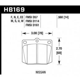 Hawk HP+ Brake Pads Girling...